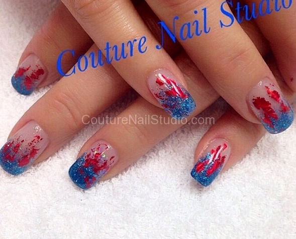 Nail salon services nail art memorial day nails prinsesfo Choice Image