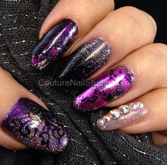 black-purple-nails
